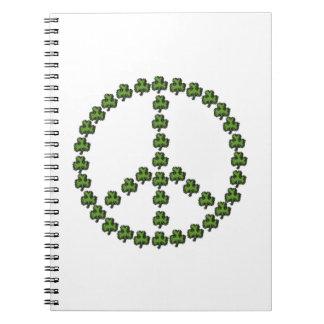 Irish Peace Sign Notebook