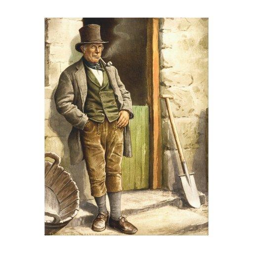 Irish Peasant Farmer 1890 Canvas Print