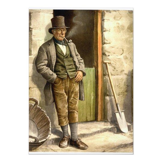 Irish Peasant Farmer 1890 Card