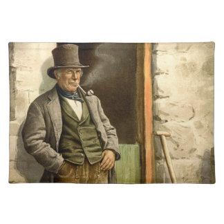 Irish Peasant Farmer 1890 Placemat