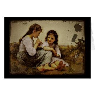 Irish Penny Whistle Girls Card