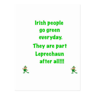 Irish people postcard