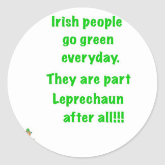 Irish people round sticker
