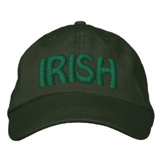 IRISH - Pine Green Hat w/ Green  Stitched Letters