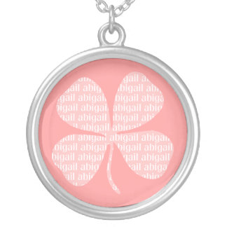 Irish Pink Shamrock Abigail Necklace