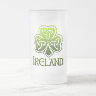 Irish Pint 16 Oz Frosted Glass Beer Mug