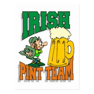 Irish Pint Team Postcard