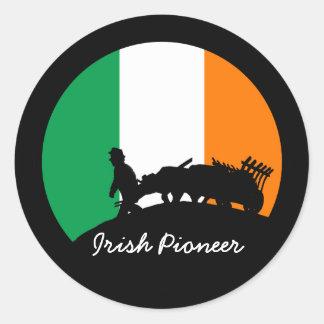 IRISH PIONEER CLASSIC ROUND STICKER