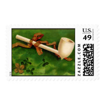 Irish Pipe St. Patrick's Day Postage Stamp
