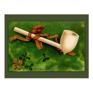 Irish Pipe St. Patrick's Day Vintage Postcard
