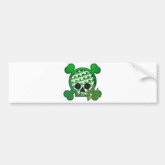 irish pirate skully skull bumper sticker