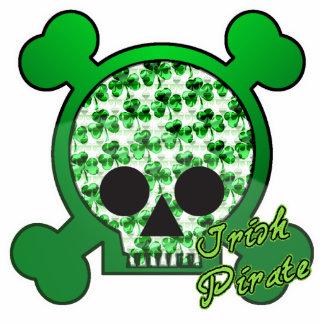 irish pirate skully skull cutout