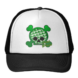irish pirate skully skull trucker hat