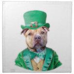 Irish Pitbull Dog Napkins