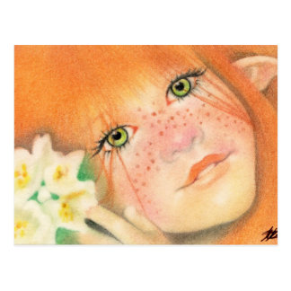 Irish Pixie Fairy Postcard