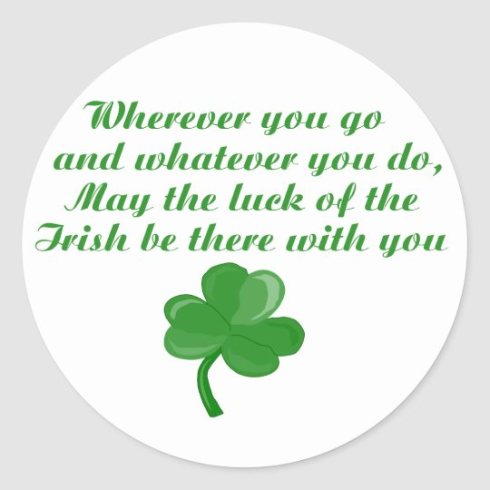 Irish Poem Stickers