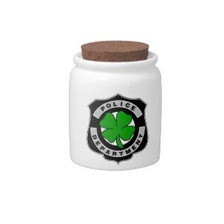 Irish Police Officers Candy Jars