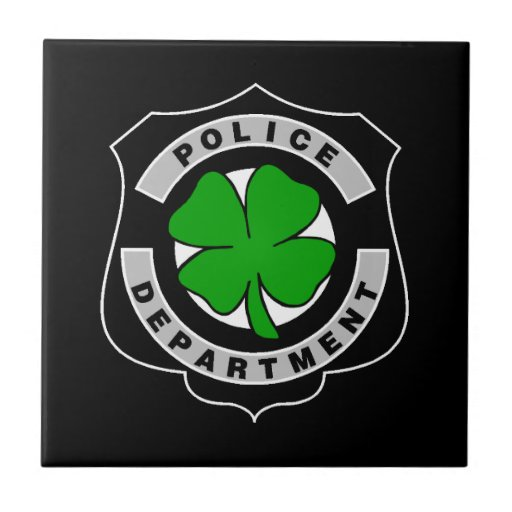 Irish Police Officers Small Square Tile
