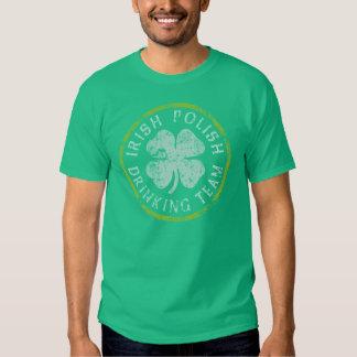 Irish Polish Drinking Team Tee Shirt