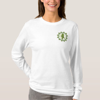 Irish Portrait Embroidered Long Sleeve T-Shirt