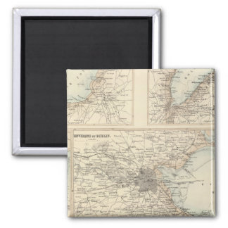 Irish Ports and Harbours 2 Inch Square Magnet