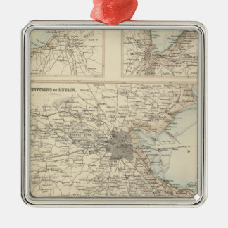 Irish Ports and Harbours Metal Ornament