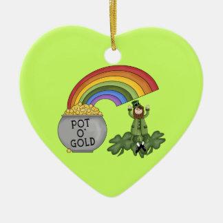 Irish Pot of Gold Ceramic Ornament