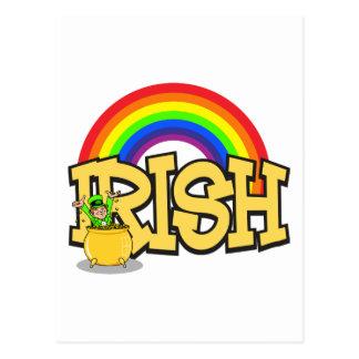 Irish Pot Of Gold Gift Postcard