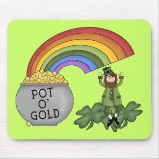 Irish Pot of Gold Mouse Pad
