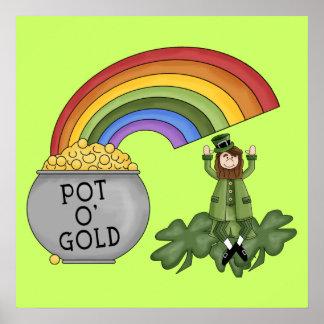 Irish Pot of Gold Poster