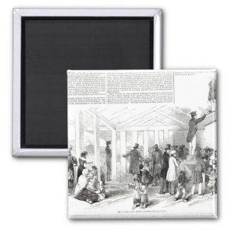 Irish Potato Famine, 1847 2 Inch Square Magnet