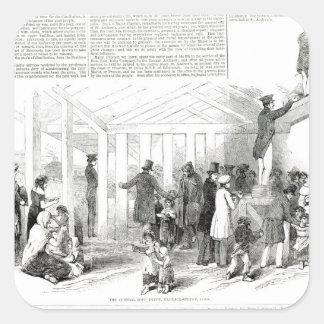 Irish Potato Famine, 1847 Square Sticker