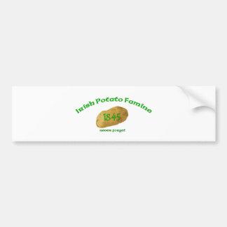 Irish Potato Famine - Never Forget! Bumper Sticker