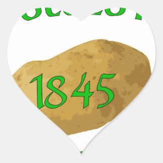 Irish Potato Famine - Never Forget! Heart Sticker