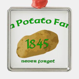 Irish Potato Famine - Never Forget! Metal Ornament