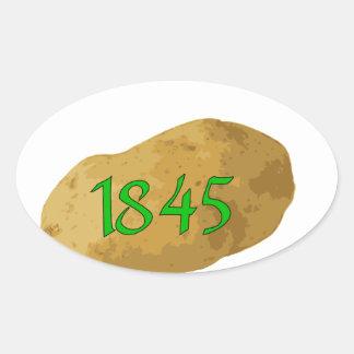 Irish Potato Famine - Never Forget! Oval Sticker