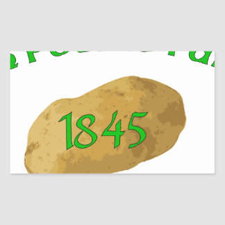 Irish Potato Famine - Never Forget! Rectangular Sticker
