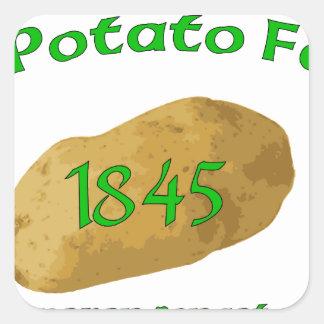 Irish Potato Famine - Never Forget! Square Sticker