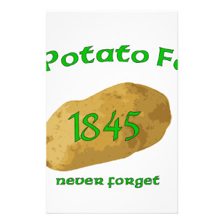 Irish Potato Famine - Never Forget! Stationery
