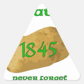 Irish Potato Famine - Never Forget! Triangle Sticker