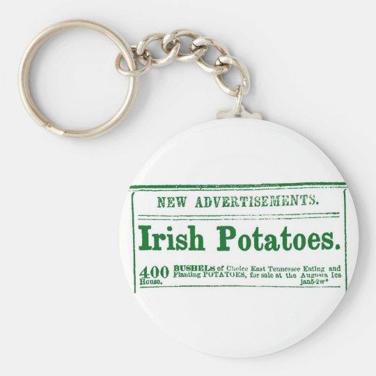 Irish Potatoes vintage classified ad Keychain