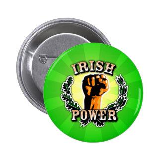 Irish Power Badge Button