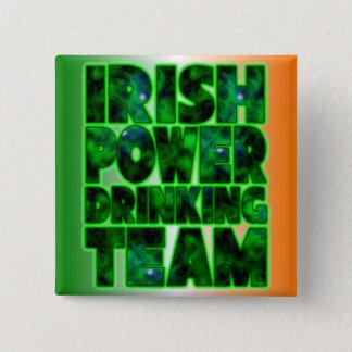 Irish Power Drinking Team Pinback Button