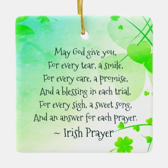 Christmas Blessing Prayer.Irish Prayer And Blessing Personalized Christmas Ceramic Ornament