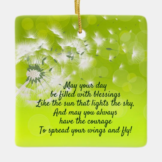 irish prayer and blessing personalized christmas ceramic ornament