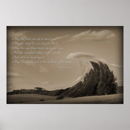 Irish Prayer, Blessing Poster