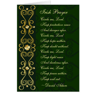 Irish Prayer, Circle me Lord, Card