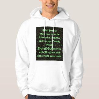 Irish prayer mens hoodie