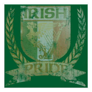 Irish Pride Crest Poster