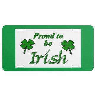 Irish Pride License Plate